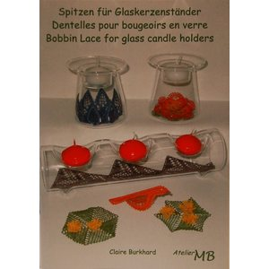 Bobbin Lace for glass candle holders - Claire Burkhard